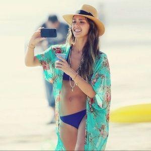 Other - Jeasica Alba Sierra Surfer Floral Kimono Cover Up